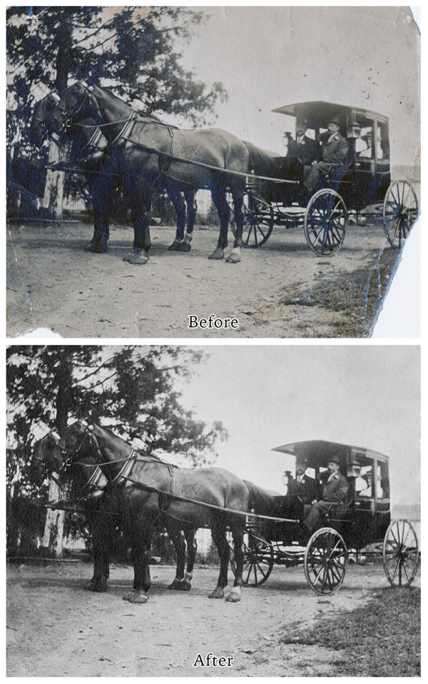 restoration, restored photographs, fix, photograph fix